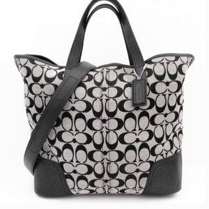 Coach Hadley Signature Duffle Tote Handbag F28981